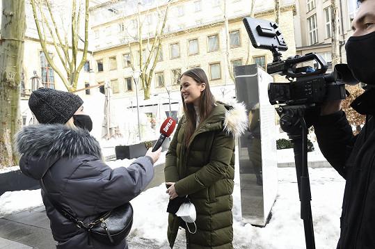 Klára Vavrušková během rozhovoru pro Super.cz