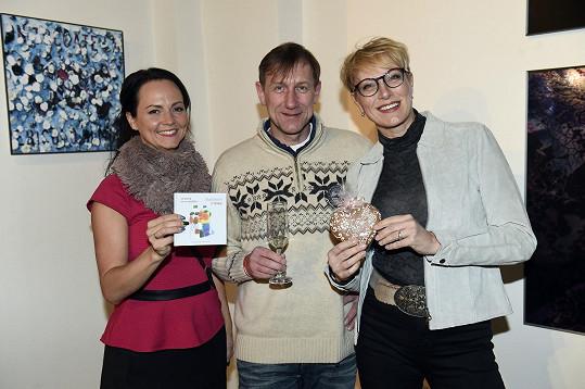 Duchoslav s Renatou a Veronikou Blažkovou, mluvčí Prahy 1