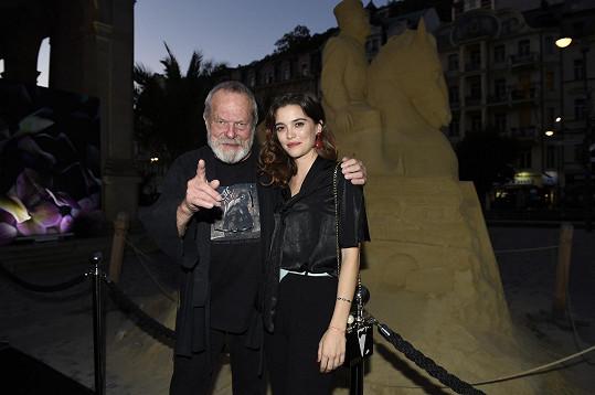 Terry Gilliam a Joana Ribeiro