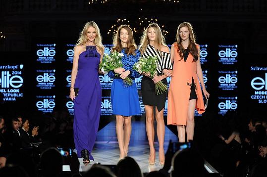 Barborky s loňskou vítězkou Evou Klímkovou a topmodelkou Pavlínou Němcovou