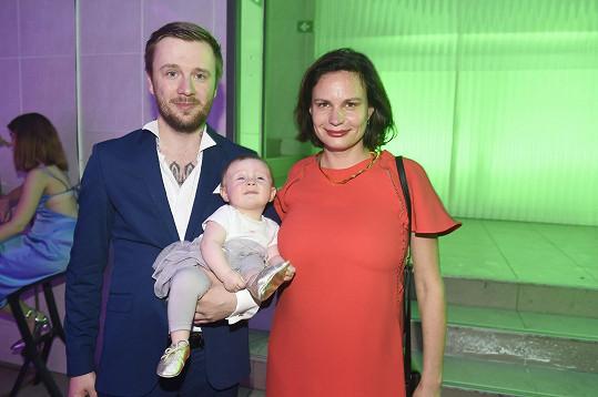 Eliška s dcerou Miou Stellou a partnerem Jozefem