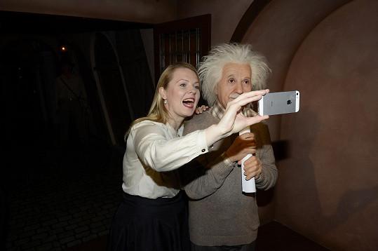 Selfie s Albertem Einsteinem