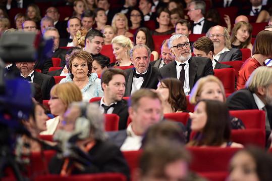 Jiřina Bohdalová v publiku