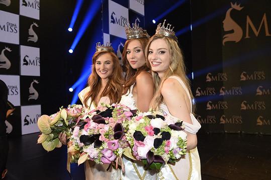 Nové České Miss 2018 (zleva) Jana Šišková, Lea Šteflíčková a Tereza Křivánková