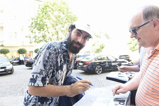Přijel i režisér Romain Gavras.