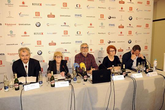 Na poslední tiskové konferenci před zahájením karlovarského festivalu