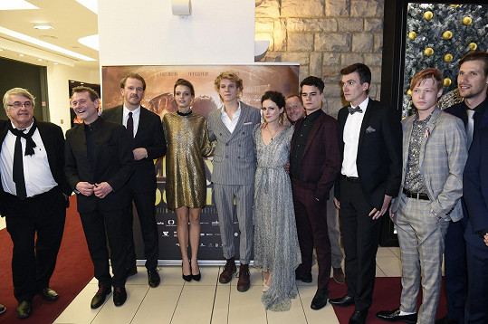 Filmová delegace obcházela sály v pražském Slovanském domě.