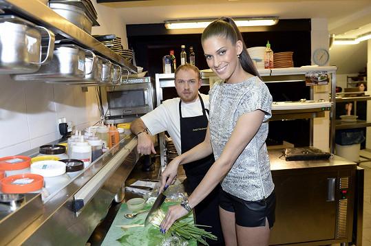 Aneta se podívala i do kuchyně.