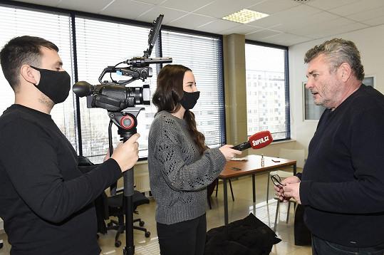 Herec během rozhovoru pro Super.cz