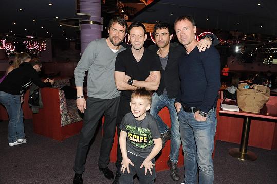 S Bořkem Slezáčkem, jeho synem Koljou, Michaelem Foretem a Zdeňkem Hrubým na konkurzu Dětí ráje