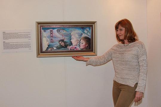 Jarmila Švehlová u obrazu Kim Novak Vertigo