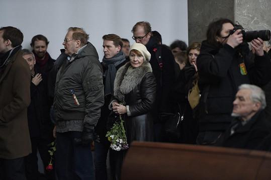Rozloučit se přišli i Daniela Kolářová, Jan Vlasák a Pavel Baťek.