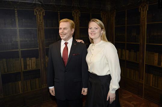 Pózovala i s Václavem Havlem.