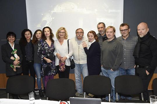 S kolegy po tiskové konferenci