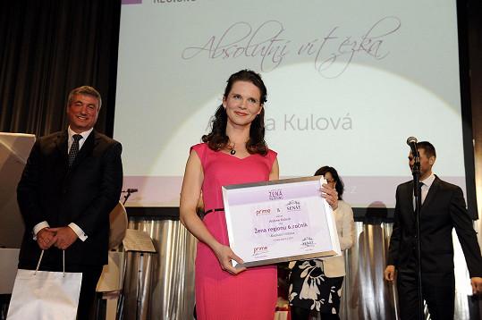 Andrea Kulová z Jihomoravského kraje se stala vítězkou Ženy regionu.