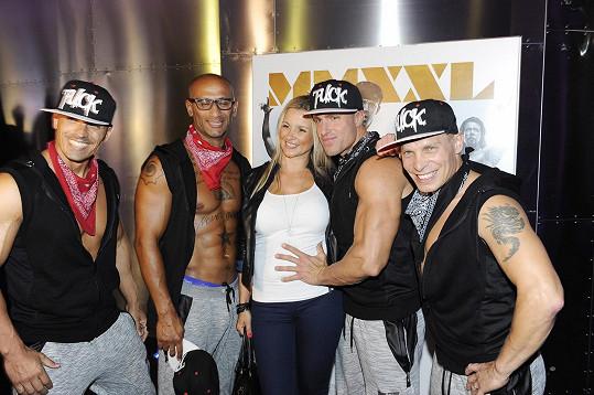 Monika s partou striptérů