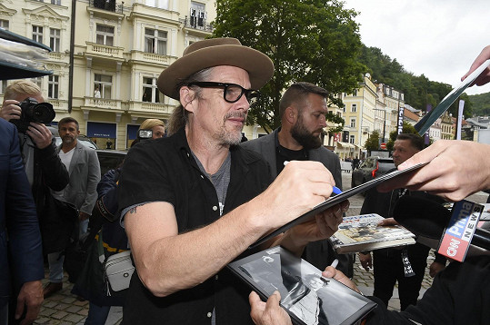 Ethan Hawke dorazil na karlovarský filmový festival.