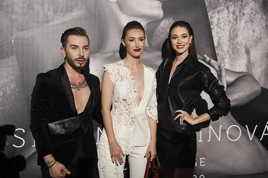 A stylista Sam Dolce a Miss Czech Republic Denisa Spergerová.