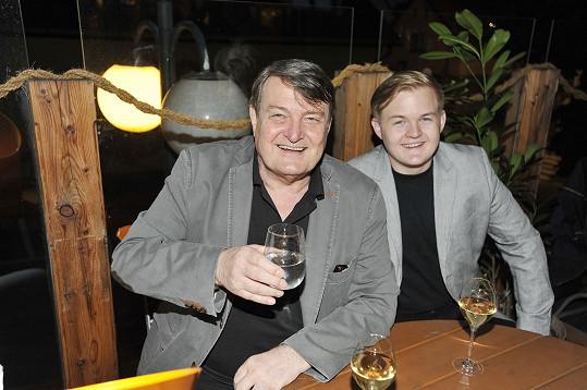 Artur se svým otcem Ladislavem Štaidlem
