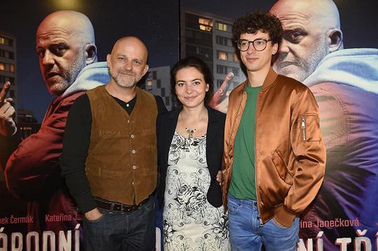S filmovými kolegy Kateřinou Janečkovou a Janem Cinou