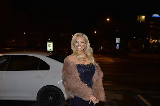 Lucie Borhyová předvedla ten nejširší úsměv večera.