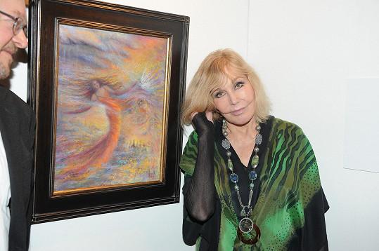 Obraz herečka věnovala festivalu Febiofest.