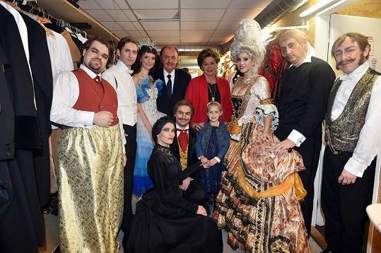 Ája se podívala i do zákulisí Fantoma opery a fotila se s jeho protagonisty.