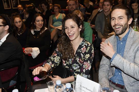 S hereckým kolegou Danielem Bambasem na vyhlášení nominací na ceny Thálie