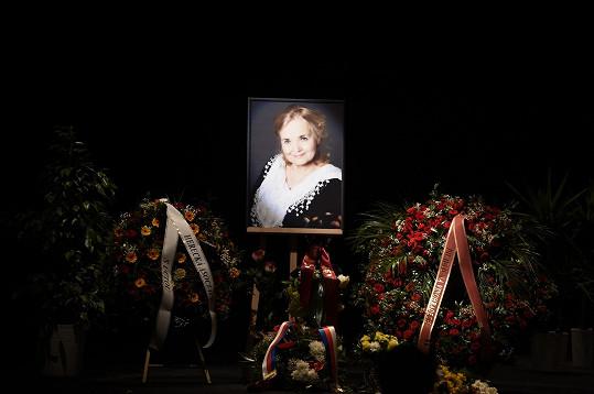 Poslední rozloučení s Gabrielou Vránovou se konalo v Divadle na Vinohradech.