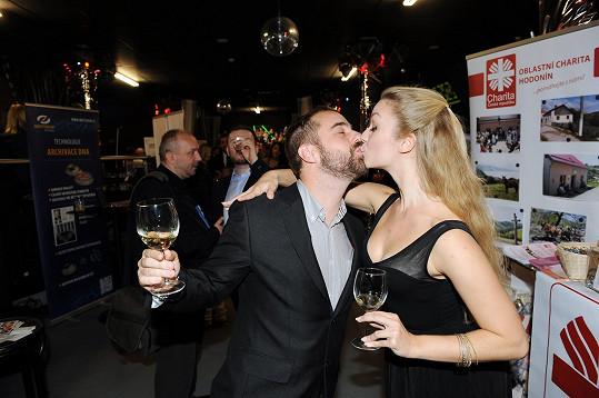 Petr Kutheil dorazil s přítelkyní, tanečnicí Markétou.