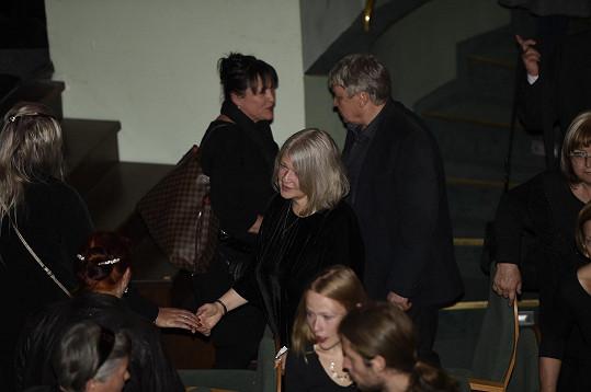 Zuzana Hášová přijímala kondolence.
