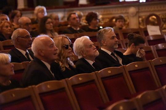 Rodina se s herečkou rozloučila v Divadle na Vinohradech.