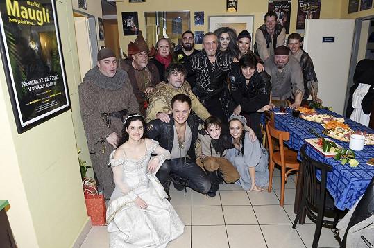 S divadelními kolegy z Kalichu