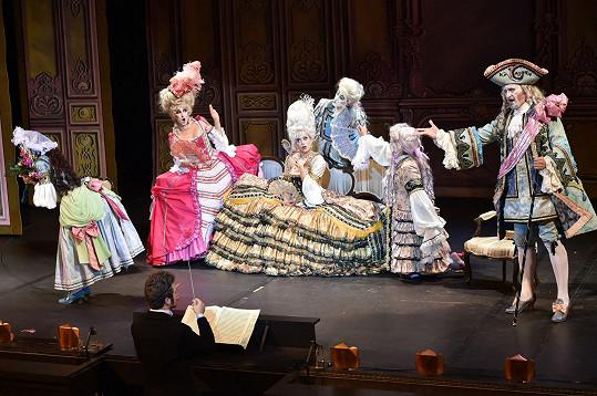 Role operní subrety má prostor zejména na začátku muzikálu.