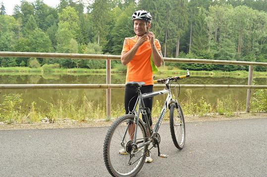 Dalibor Gondík je vášnivý cyklista.