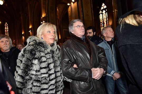 Vlastimil Harapes přišel s dámským doprovodem - Marií Poledňákovou.