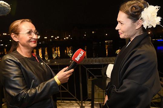 Kateřina během rozhovoru se Super.cz