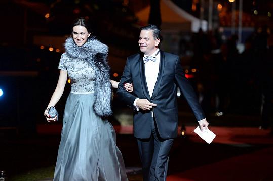 Slovenského režiséra, scenáristu a herce Daniela Dangla doprovodila manželka Beáta.