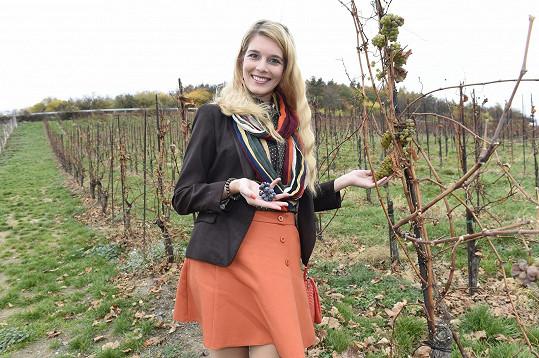 Henrieta ve vinařství na Salabce