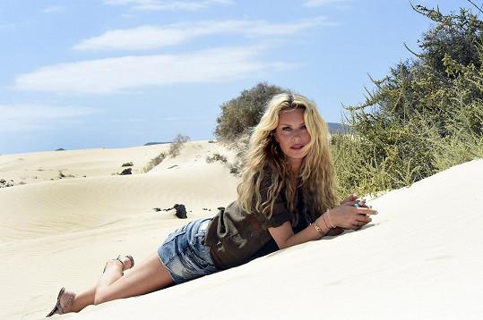 Modelka poznávala krásy ostrova Fuerteventura.