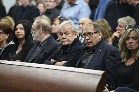 Karel Šíp a Josef Alois Náhlovský zasedli do smuteční lavice pospolu.