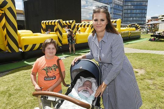 Se svými syny Quentinem a Svenem