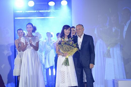 Beata Rajská při závěrečném defilé