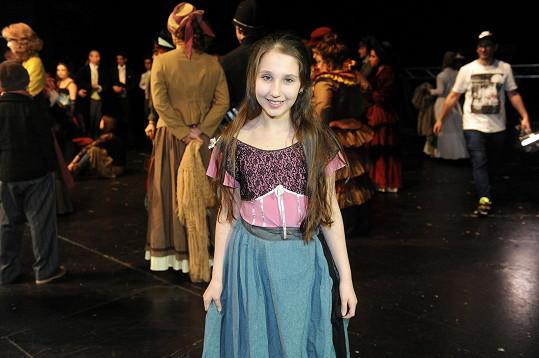 V muzikálu si zahraje i její mladší sestra Natálka.
