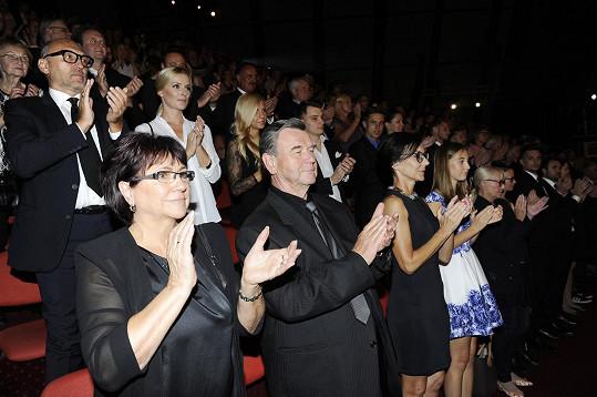 Představení Fantoma jako vždy končilo standing ovation.