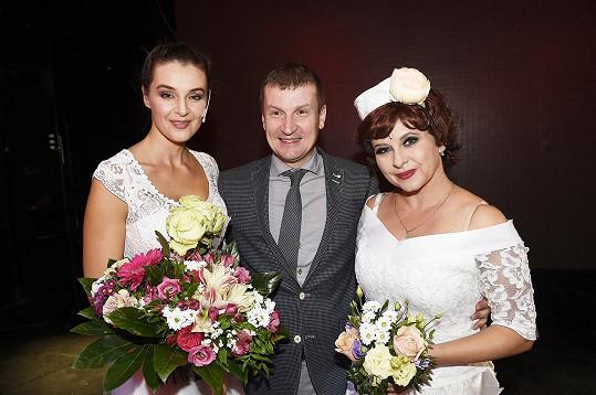 S režisérem Radkem Balašem a kolegyní Danou Morávkovou