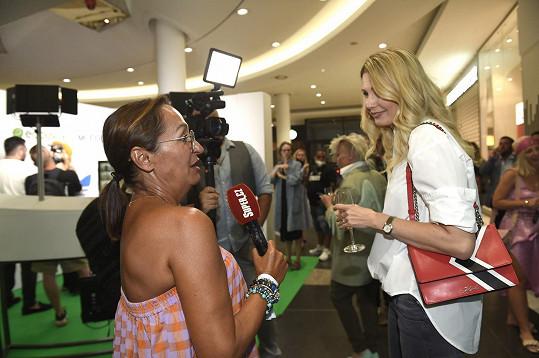 Sandra při rozhovoru se Super.cz