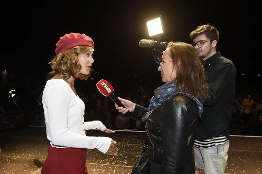 Dominika při rozhovoru se Super.cz