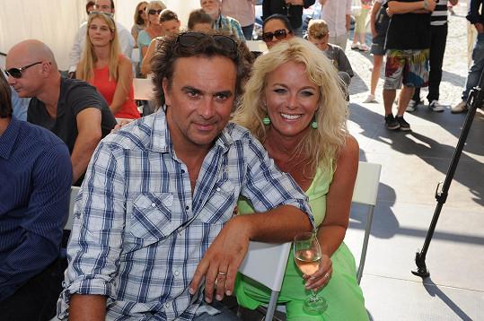 S manželkou Lucií Benešovou