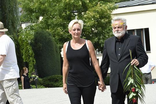 Václav Upír Krejčí s manželkou